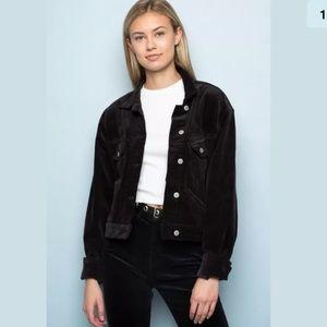 Brandy Melville Black Mina corduroy jacket